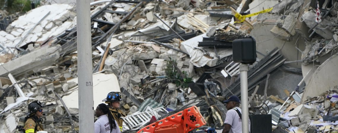 At Least 1 Dead And 99 Unaccounted For After A 12-Story Building Partially Collapses
